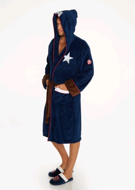 Captain America - Captain America Hooded Fleece Bathrobe-GVY91181