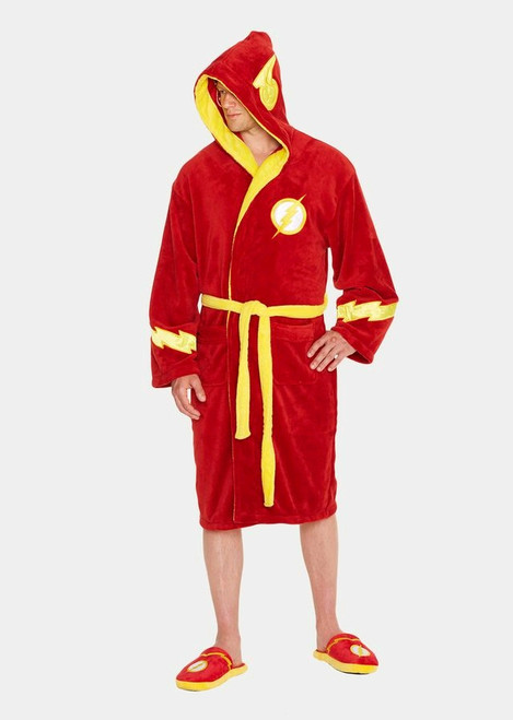 Flash - Flash Hooded Fleece Bathrobe-GVY91539