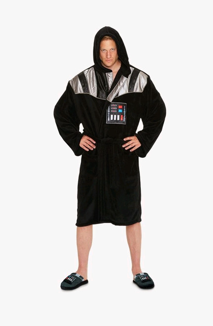 Star Wars - Darth Vader Chest Plate Fleece Bathrobe-GVY91659