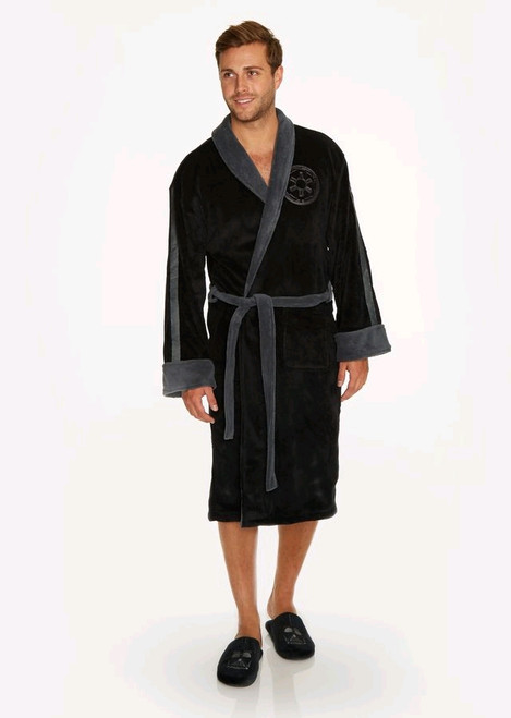 Star Wars - Darth Vader Grey Trim Fleece Bathrobe-GVY91176