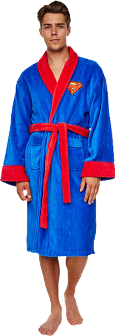 Superman - Fleece Robe (Blue)-GVY90147