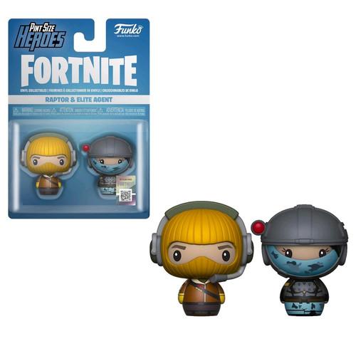 Fortnite - Raptor & Elite Agent Pint Size Hero 2-pack-FUN38027