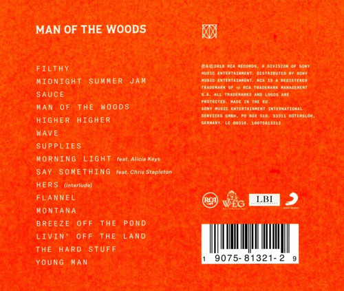 Justin Timberlake- Man of the woods-Brand New/Still sealed