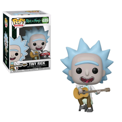 Rick and Morty - Tiny Rick with Guitar US Exclusive Pop! Vinyl [RS]-FUN34215
