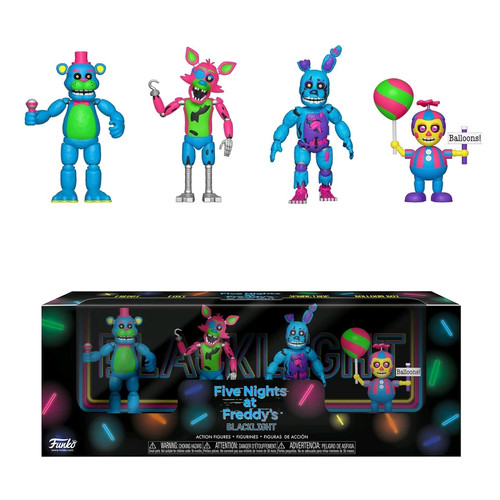 "Five Nights at Freddy's - Black Light #2 2"" Figure 4-pack-FUN34130"