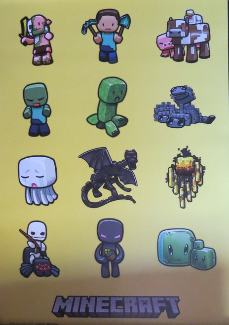Minecraft -Characters- Poster-Laminated Available-90cm x 60cm-Brand New