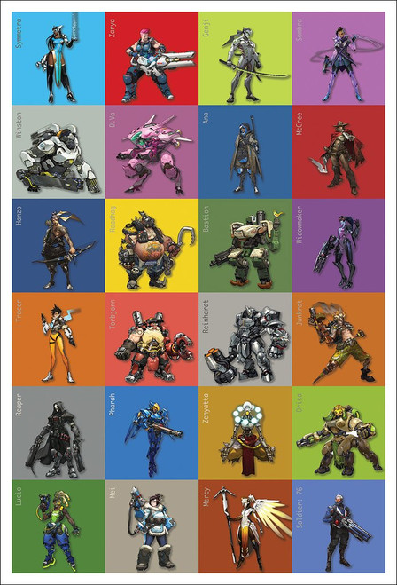 Overwatch / Characters Poster-Laminated Available -90cm x 60cm