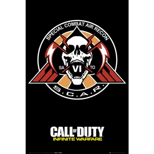 Call Of Duty: Infinite Warfare -S.C.A.R - Logo Gaming Poster-Laminated Available-90cm x 60cm