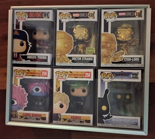 Aluminium Pop Vinyl Display Case-Removable Clear Acrylic Front-Pop Protector-Funko