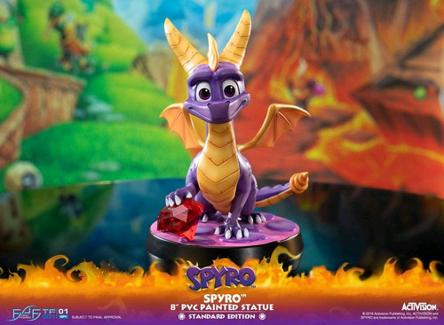 "Spyro the Dragon - Spyro the Dragon 8"" PVC Statue-F4FTFSPYROR"