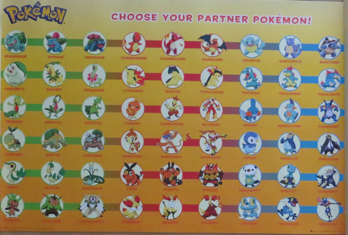 Pokemon  / Gaming : Partner Pokemon- Poster-Laminated Available-91cm x 61cm-Brand New