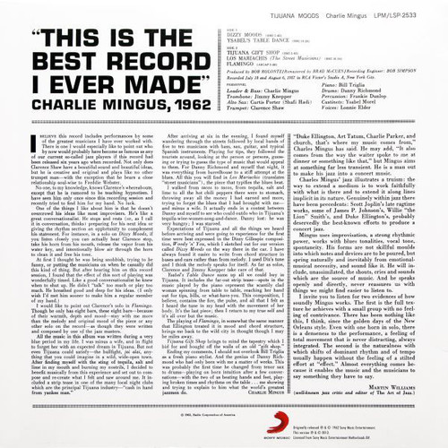 CHARLIE MINGUS-Tijuana Moods (180 Gram Vinyl) Vinyl LP-Brand New-Still Sealed