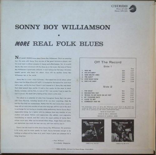 SONNY BOY WILLIAMSON-More Real Folk Blues (180 gram) Vinyl LP-Brand New-Still Sealed