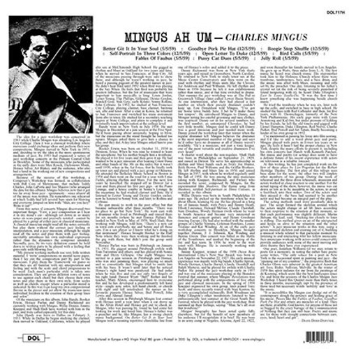 CHARLES MINGUS (180 gram)-MINGUS  Vinyl LP-Brand New-Still Sealed