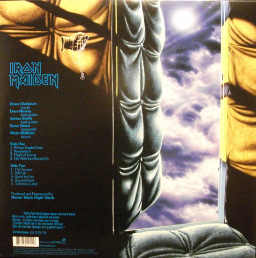 IRON MAIDEN-Piece of Mind (180 gram) Vinyl LP-Brand New-Still Sealed