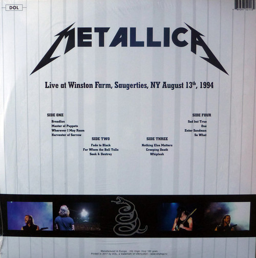 METALLICA-Live at Winston Farm NY 1994 (180 gram) Vinyl LP-Brand New-Still Sealed