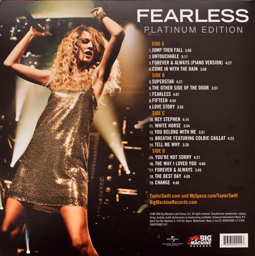 TAYLOR SWIFT (2 LP's 180 gram)-Fearless (Platinum Edition) Vinyl LP-Brand New-Still Sealed