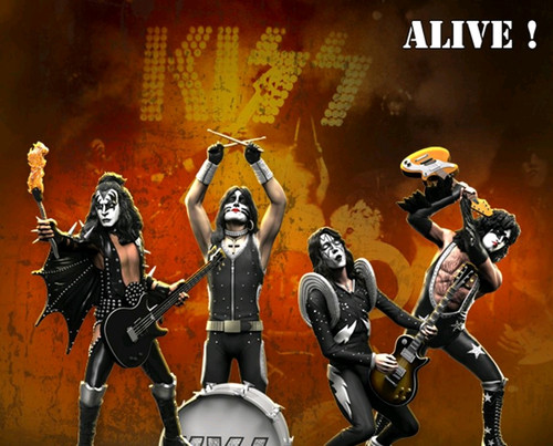 KISS - Alive Rock Iconz Statues Set of 4-KNUKISS300