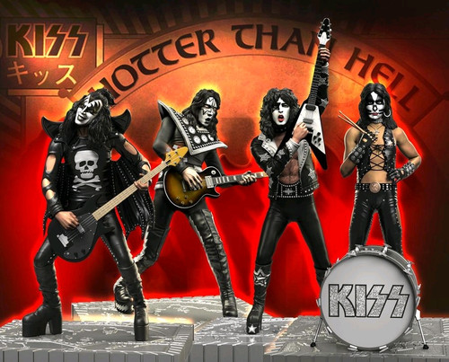 KISS - Hotter than Hell Rock Iconz Statues Set of 4-KNUKISS200