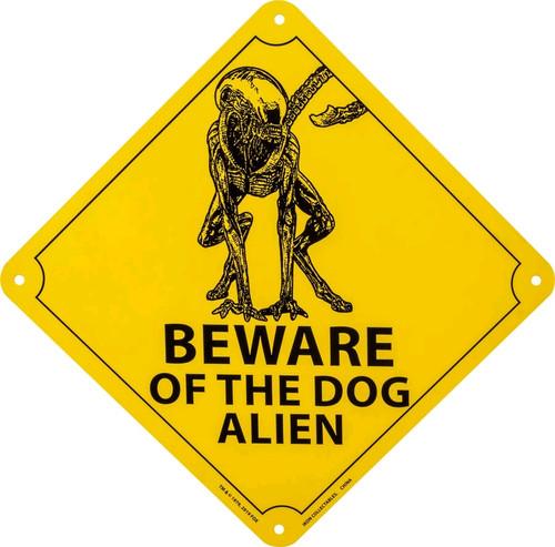 Alien - Beware of the Dog Alien Tin Sign-IKO1373