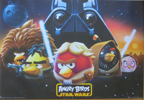 Angry  Birds Star Wars Space- Poster-Laminated Available-91cm x 61cm-Brand New