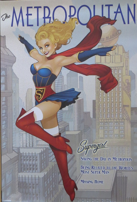 DC Comics - Bombshells Supergirl- Poster-Laminated Available-91cm x 61cm-Brand New