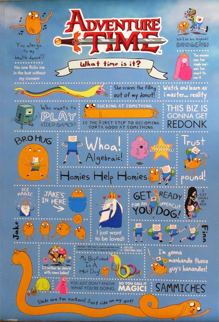ADVENTURE TIME-Quotes- Poster-Laminated available-90cm x 60cm-Brand New