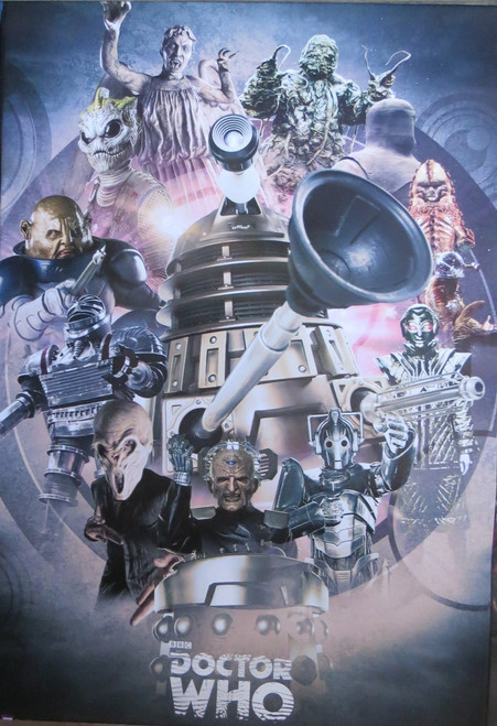 Doctor Who -Enemies Through Time- Poster-Laminated Available-90cm x 60cm-Brand New