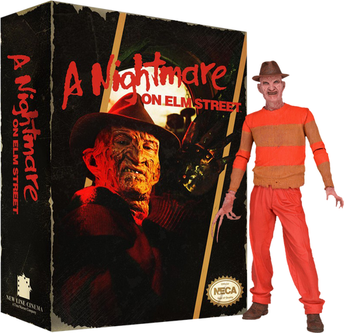 """A Nightmare on Elm Street - Freddy Classic Video Game 7"""" Action Figure Blister Package-NEC39756"""