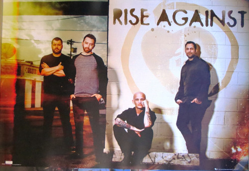 Rise Against-Group- Poster-Laminated Available-90cm x 60cm-Brand New