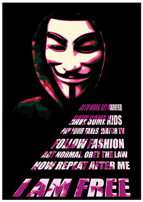 V For Vendetta Poster-Laminated available -90cm x 60cm