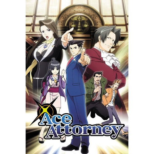 Ace Attorney -Key Art TV Show Poster-Laminated available-90cm x 60cm
