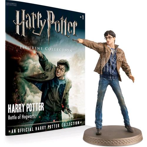 Harry Potter - Harry (Battle Scene) 1:16 Figure & Magazine-EAGWHPUK008-EAGLEMOSS