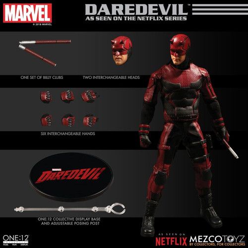Daredevil - Netflix One:12 Collective Figure-MEZ76650-MEZCO TOYZ