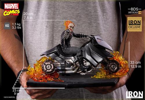 Ghost Rider - 1:10 Scale Statue Exclusive-IRO73500-IRON STUDIOS