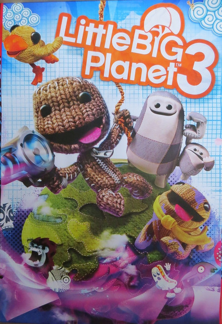 Little Big Planet 3 - Gaming - Poster-Laminated Available-90cm x 60cm-Brand New