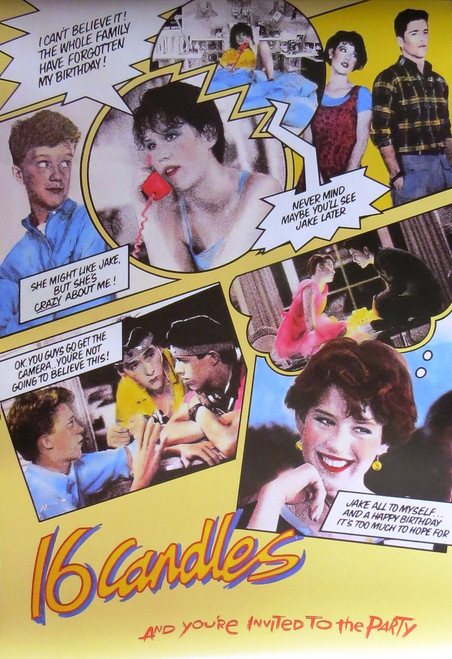 16 Candles-Movie-Comic collage - Poster-Laminated available-90cm x 60cm-Brand New
