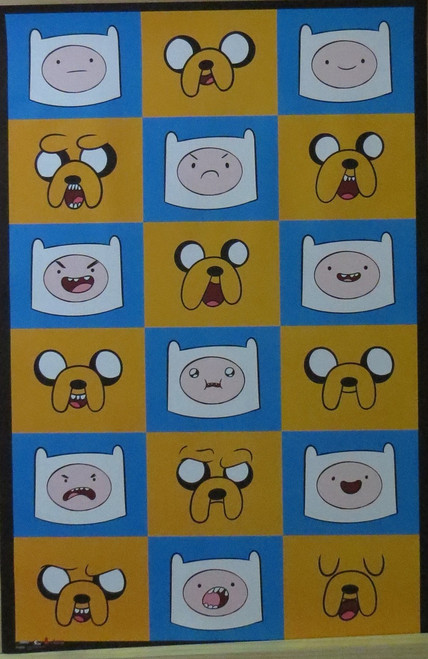 Adventure Time  : Expressions- Poster-Laminated available-91cm x 61cm-Brand New