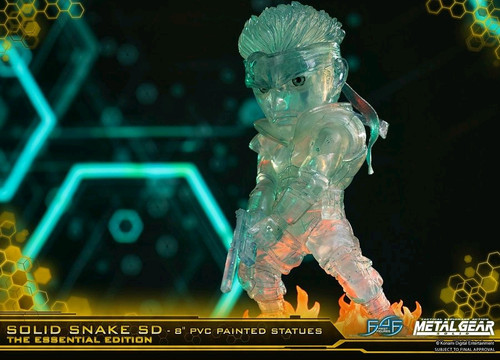 """Metal Gear Solid - Solid Snake Stealth Camouflage 8"""" PVC Statue-F4FMGSSSSDSCS-FIRST 4 FIGURES"""