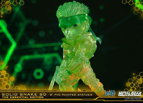 "Metal Gear Solid - Solid Snake Stealth Green 8"" PVC Statue-F4FMGSSSSDNGS-FIRST 4 FIGURES"