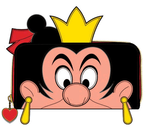 Alice in Wonderland - Queen of Hearts Zip Purse-LOUWDWA1086-LOUNGEFLY