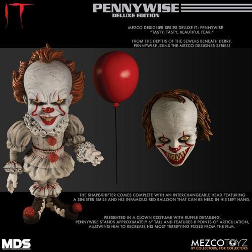 It (2017) - Pennywise Deluxe Designer Figure-MEZ43020-MEZCO TOYZ