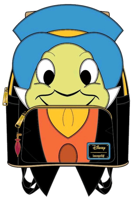 Pinocchio - Jiminy Cricket Mini Backpack-LOUWDBK0933-LOUNGEFLY