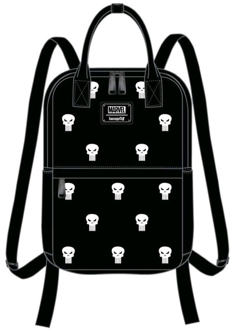 Punisher - Embroidered Backpack-LOUMVBK0087-LOUNGEFLY