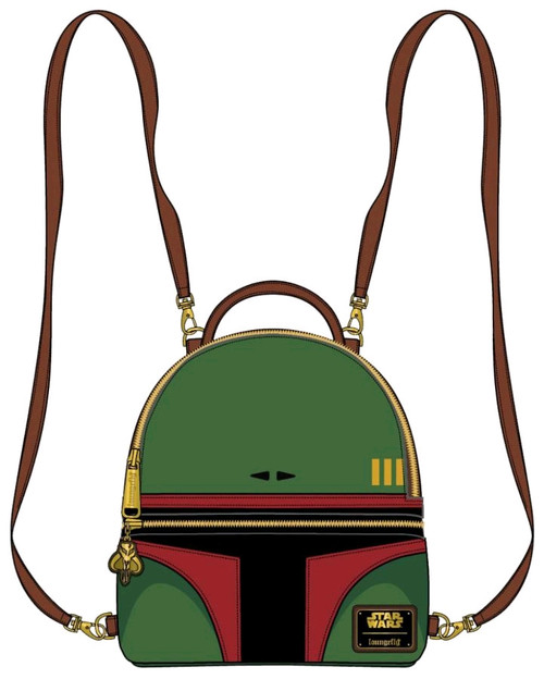 Star Wars - Boba Fett Convertible Mini Backpack-LOUSTBK0138-LOUNGEFLY