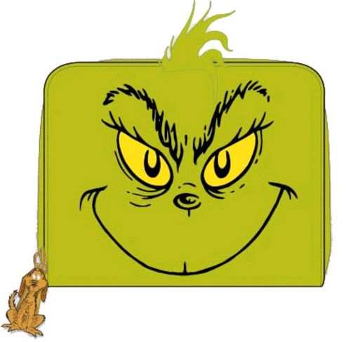 Dr Seuss - Grinch Zip Purse-LOUDSSWA0004-LOUNGEFLY