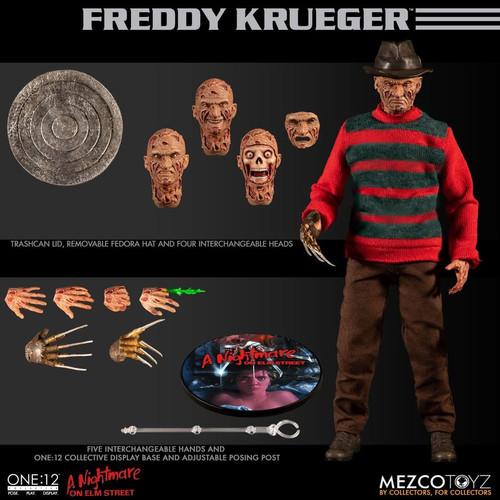 A Nightmare on Elm Street - Freddy Krueger One:12 Collective Action Figure-MEZ77390-MEZCO TOYZ