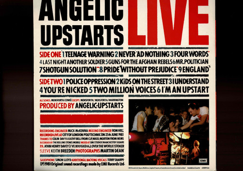 Angelic Upstarts-Live-VINYL LP-USED-UK Original press