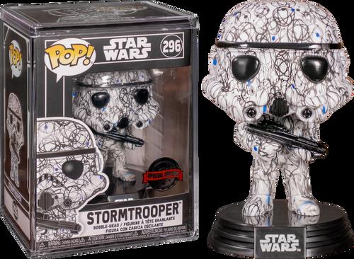 Star Wars - Stormtrooper (Futura) Pop! Vinyl with Protector [RS]-FUN45861-FUNKO