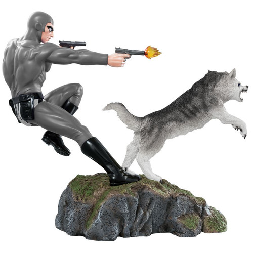 The Phantom - Phantom and Devil Grey Suit Statue-IKO1620-IKON DESIGN STUDIO